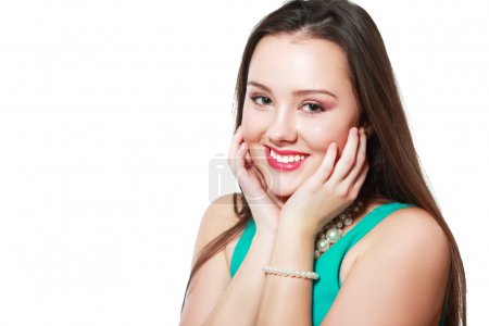 woman with happy excited expression