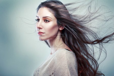 woman portrait with long hair