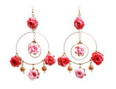 floral rose earrings