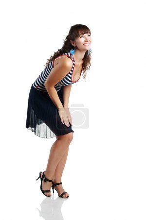 Photo for Portrait of happy  woman wearing summer dress - Royalty Free Image