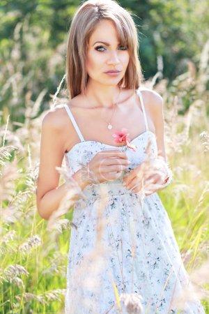 gorgeous girl widh wildflower