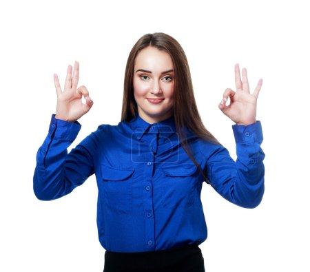 showing okay gesture
