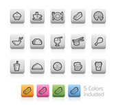 Food and Drink Icons 2 -- Outline Button