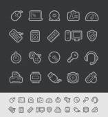 Computer Store Icons -- Black Line Series