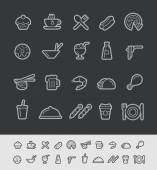 Food and Drinks Icons 2 -- Black Line Series