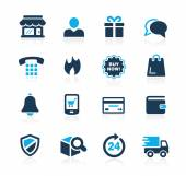 E-Shopping Icons -- Azure Series