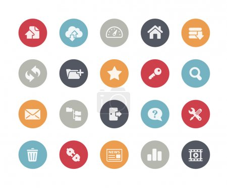 Illustration pour Icônes vectorielles pour vos projets web, mobiles ou d'impression . - image libre de droit
