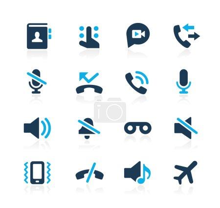 Phone Calls Interface Icons -- Azure Series