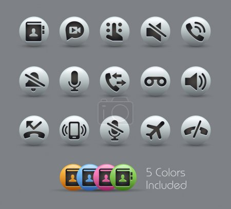 Phone Calls Interface Icons -- Pearly Series