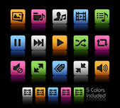 Media Player Icons -- ColorBox Series