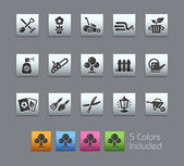 The Vector file includes 5 color versions for each icon in different layers