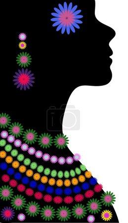 Black female silhouette in profile.