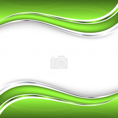 Illustration for Abstract green background. Vector illustration. Clip-art - Royalty Free Image