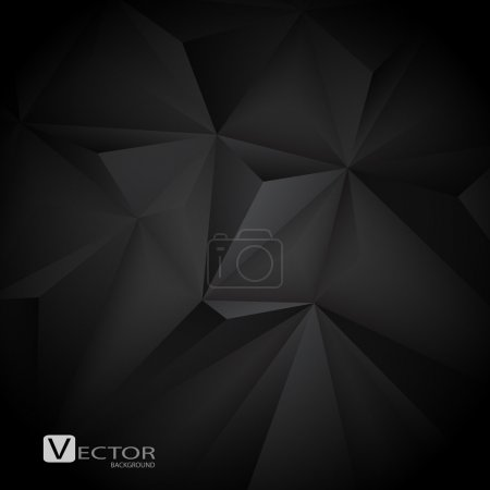 Illustration for Abstract black background. Vector Illustration. Clip-art - Royalty Free Image