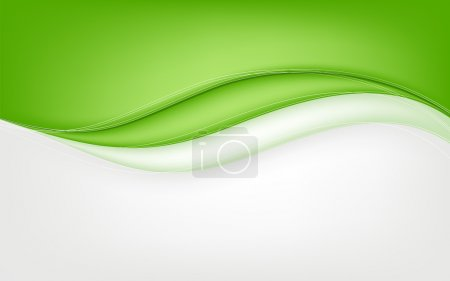 Illustration for Abstract green wave background. Vector illustration. Clip-art - Royalty Free Image