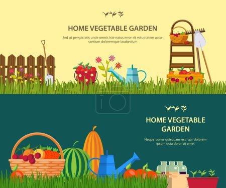 Vector garden work.