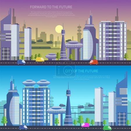Illustration for Vector city of the future, illustration eps 10 - Royalty Free Image