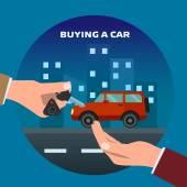 Buying car Man gets keys