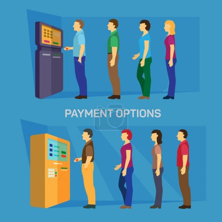 Payment options banking finance money flat infographic vector