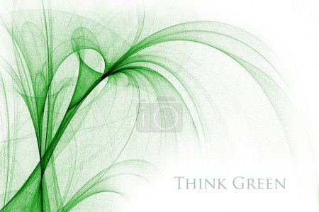 Green abstract fantasy design, great as a background. Nature organic herbal concept for your project. The sample text can be very easily removed.