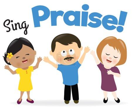 Group singing praise