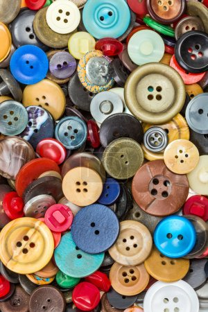 Photo for Lots various colored and sized buttons from top - Royalty Free Image