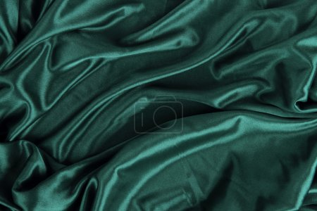 Dark Green Satin Silk Velvet Cloth Fabric Background