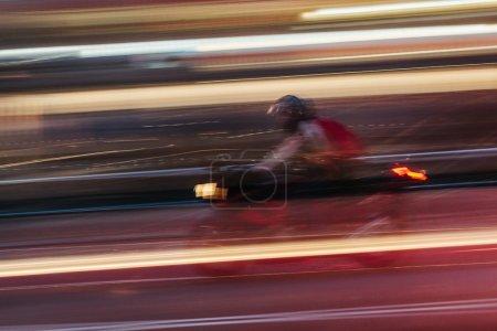 Motorkibe in a Blurred City