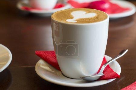 Latte mug with spoon
