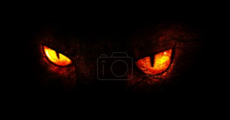 Photo for An illustration of burning demonic eyes. - Royalty Free Image