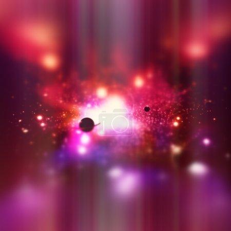 Photo pour Un fond de l'espace avec le ciel, les planètes et les étoiles. - image libre de droit