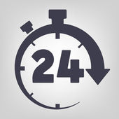 Timer icon black vector time clock simple