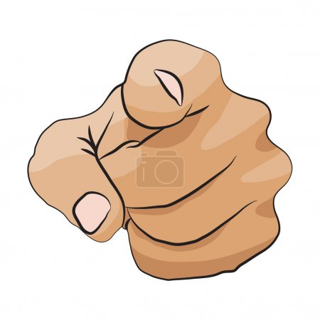 Illustration pour Je veux que vous vecteur main pointant icône isolé sur fond blanc - image libre de droit