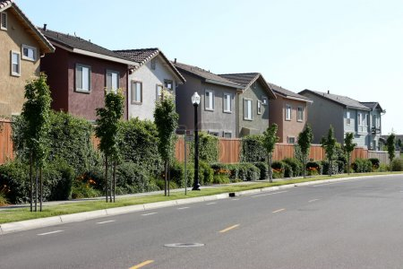 Photo for Row of houses in suburban neighborhood - Royalty Free Image