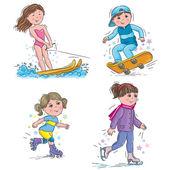 Water ski skateboard skates roller skates