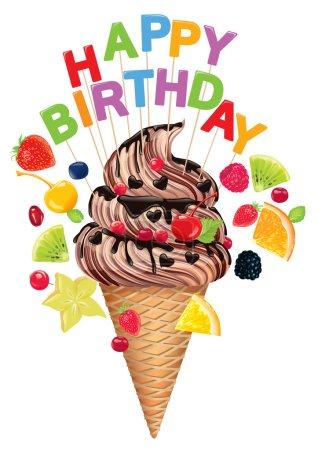 Hapy Birthday ice cream. Eps10...