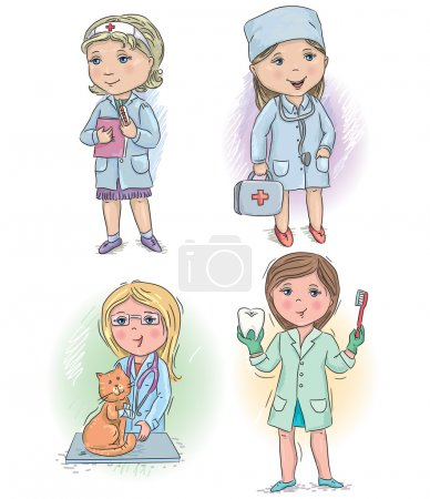Photo for Profession kids profession doctor. Eps10 - Royalty Free Image