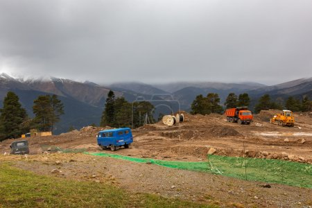 Arkhyz Park ski resort construction