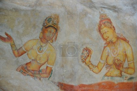 Sigiriya maiden5th century frescoes at