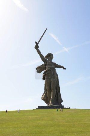 "The monument ""the Motherland calls"" of the Mamaev Kurgan in Volgograd."