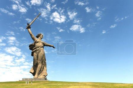 "The monument ""the Motherland calls"" of the Mamaev Kurgan in Volgograd"