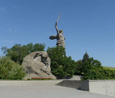 "Monument - ensemble ""to Heroes of Stalingrad battle"" in Volgograd."