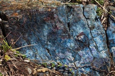 bluish rock closeup