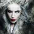 Dark fantasy sorceress woman, composite photo...