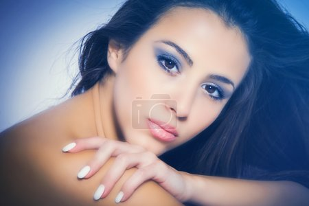Photo for Perfect nourished young woman beauty portrait - Royalty Free Image