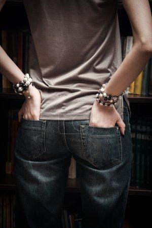 jeans and bracelets