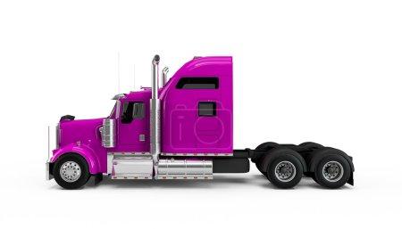 Magenta american truck