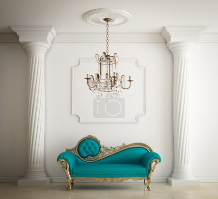 Classical interior with Luxurious leather sofa
