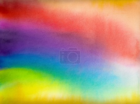 Photo for Abstract watercolor rainbow colors background - Royalty Free Image