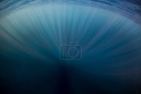 Underwater shot of the sun rays